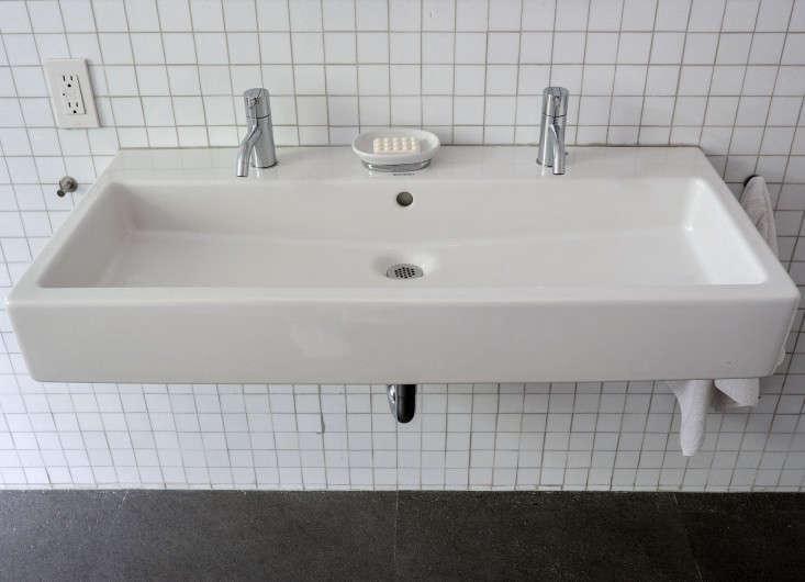 Inspirational Brooklyn bathroom remodel Fernlund and Logan Duravit sink