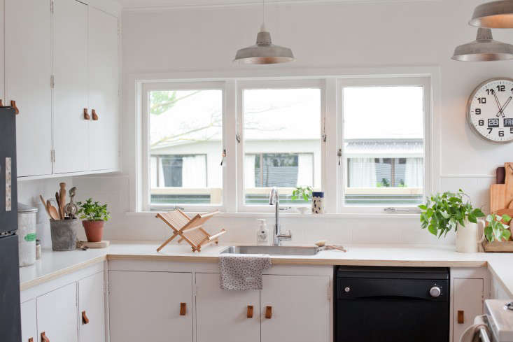 "Above: ""Although we were lucky to start with good bones, the pennies were very tight,"" says Gem. ""Renovating on a budget is hard in the best of times, ..."
