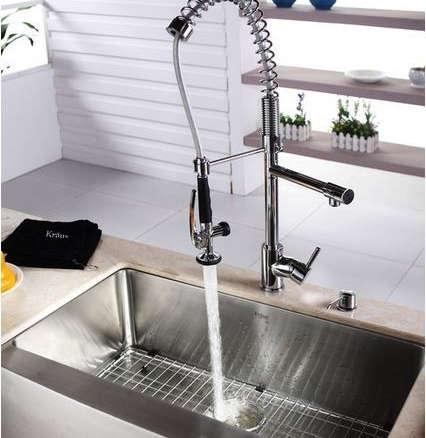 Kraus Commercial Pre-rinse Chrome Kitchen Faucet