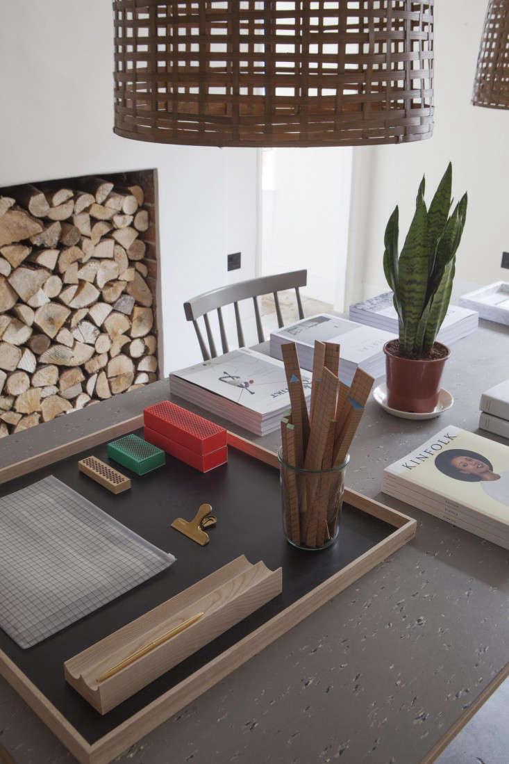 Desk organizers by Danish design studios Hay and Nomess.
