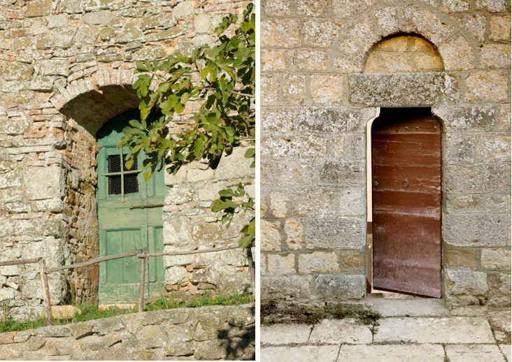 Above L and R Historic doorways are another reason to come. & The New Dolce Vita: A Reinvented Village in Tuscany - Remodelista