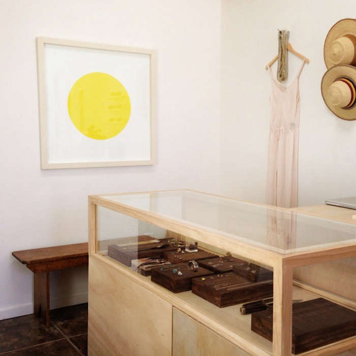 Above A Plywood Jewelry Counter In The Back Displays Pieces By Suzannah Wainhouse Fort Standard Grace Lee Kathleen Whitaker And More