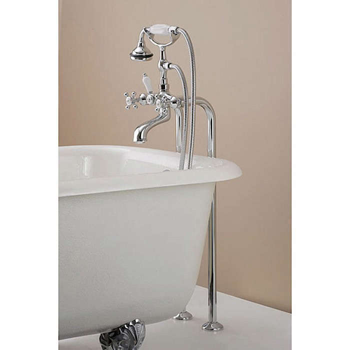 Freestanding Claw Foot Tub Hand Shower Faucet - Clawfoot tub shower fixtures