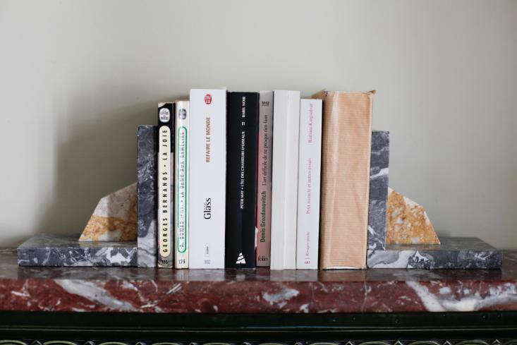 Marble scraps as bookends in Done/Undone with Clarisse Demory in Paris.
