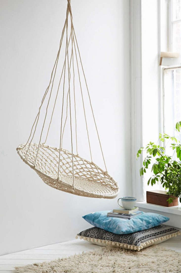 Hammock chair indoor - Above Urban Outfitters Cuzco Hanging Chair 198 Has A Macrame Swing And Hangs From A Loop Hardware Not Included