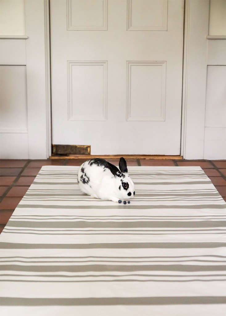 Diy The Swedish Striped Canvas Floorcloth Remodelista