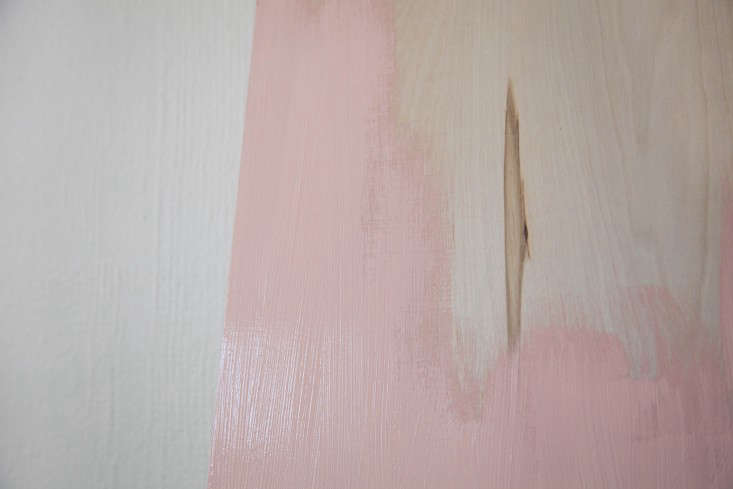 Step 2: Let the first coat of paint dry completely; if you're painting with a brush, continue with additional coats to create an even surface without visible brushstrokes.