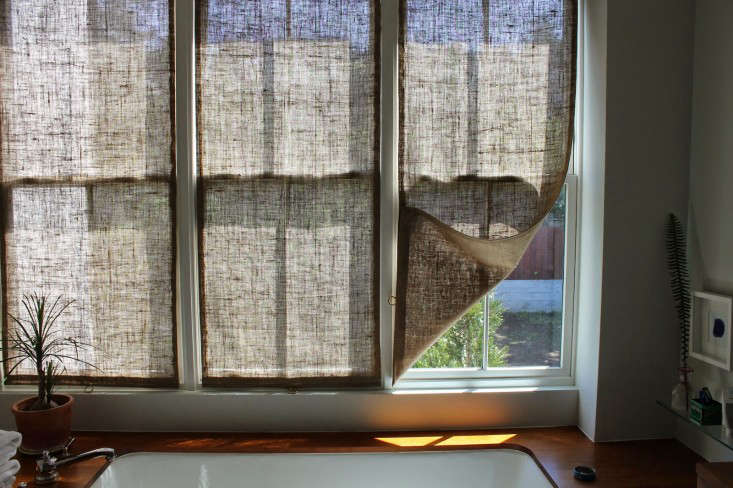 burlap window shades build in shades longs verdict im very happy with the results this room still the shingled house diy easy burlap shades for less than 20 each