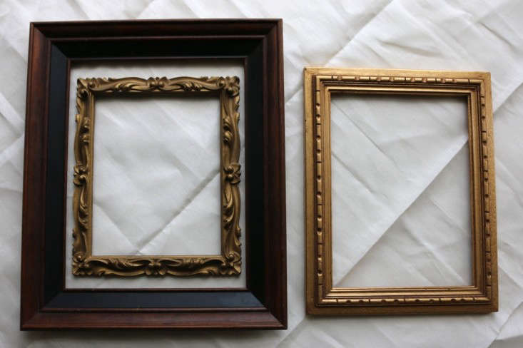 antique picture frames. Above: I Found Two Of These Vintage Frames In My Grandmother\u0027s Basement;  Bought The Third At An Antiques Store Seattle. All Three Have Been Collecting Antique Picture F