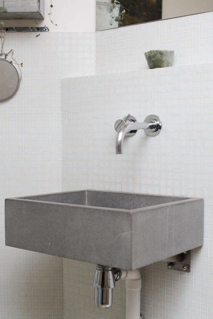 A Simple Concrete Sink In The Paris Apartment Of An Architect And An  Artist; See