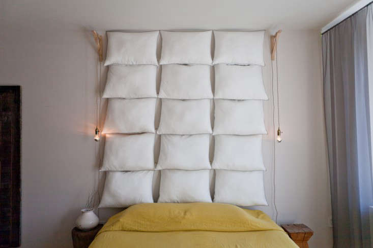 just add pillows the diy headboard for   remodelista, Headboard designs