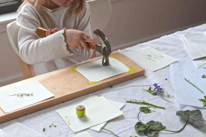 DIY: Easy Art Leaf Prints - Remodelista