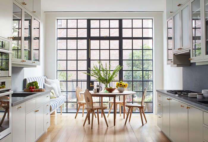 In A House United Reimagining Brooklyn Brownstone Two Story Wall Of