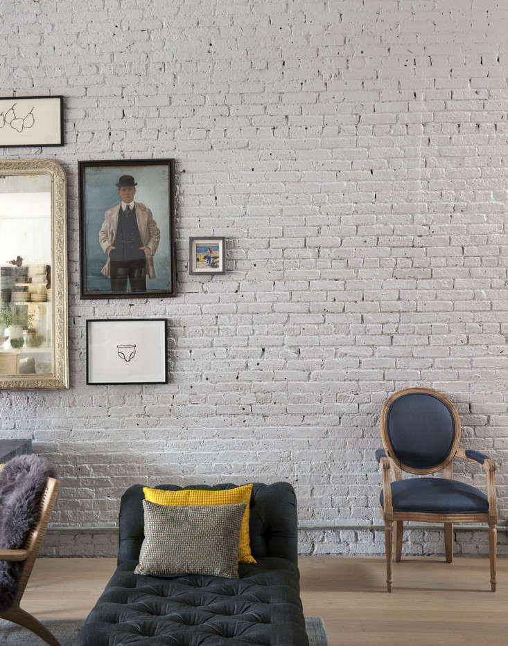 Above: The Brick Walls Had Been Unfinished And Dominantu2013the Ceilings Are 13  Feet High. The Owners Were Inclined To Paint The Brick But Nervous; ...