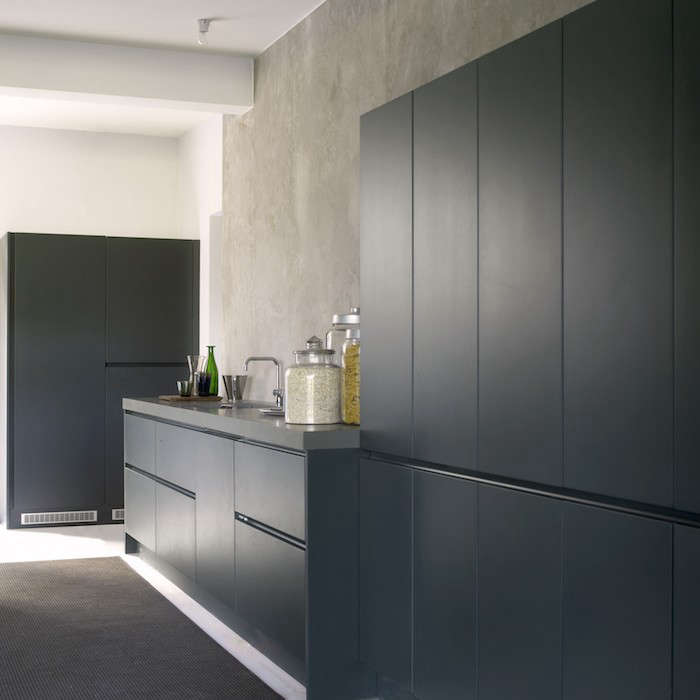Choosing Corian Countertops And Look Alikes What You Need To Know - Dark grey matt kitchen