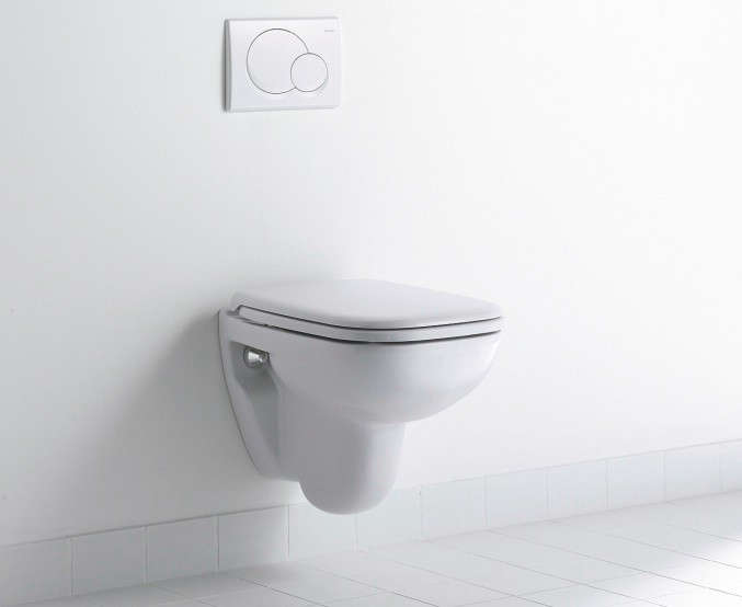Above Featuring Rectangular Forms With Rounded Edges The Duravit D Code Wall Mounted Toilet Is Modeled On Classic Washbasin Shape 17533 For