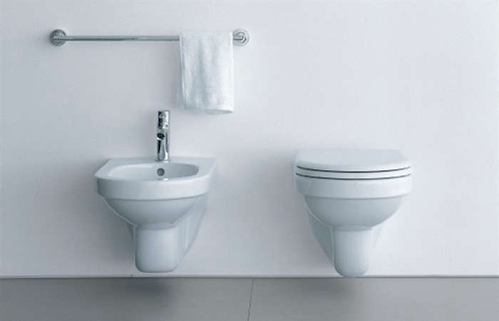 Above A Modern Classic From The Extensive Line Of Duravit Wall Hung Toilets Happy D Mounted Toilet Shown Paired With Sink