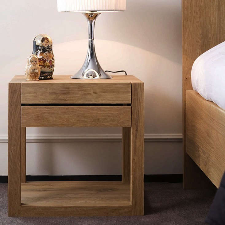 Above  The Oak Azur Nightstand from Ethnicraft is made in Europe from  sustainably sourced solid oak that is kiln dried to ensure hardness. 10 Easy Pieces  Modern Wood Bedside Tables   Remodelista
