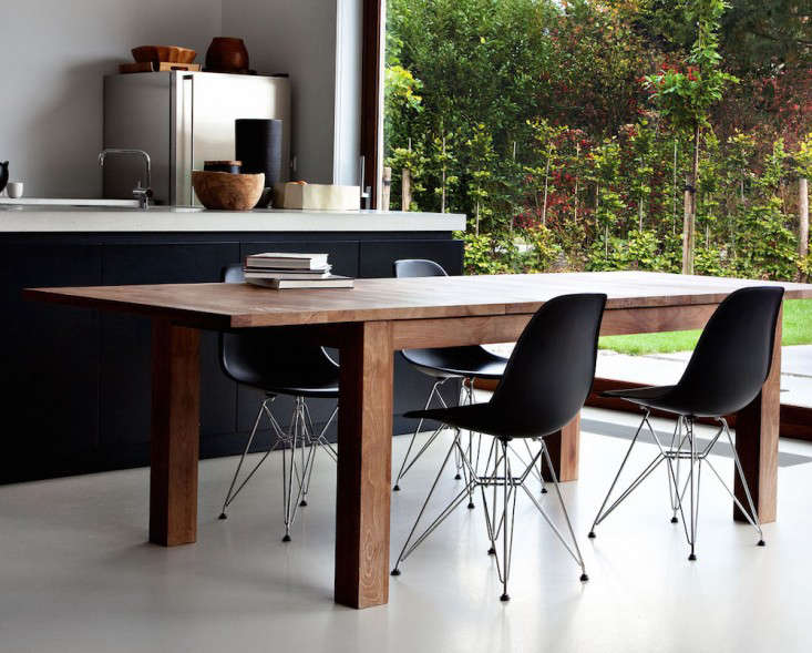 Superb Above Ethnicraft us Teak Stretch Table redefines the expandable table ujerky mechanisms and pinched fingers begone A one handed pull reveals extra leaves
