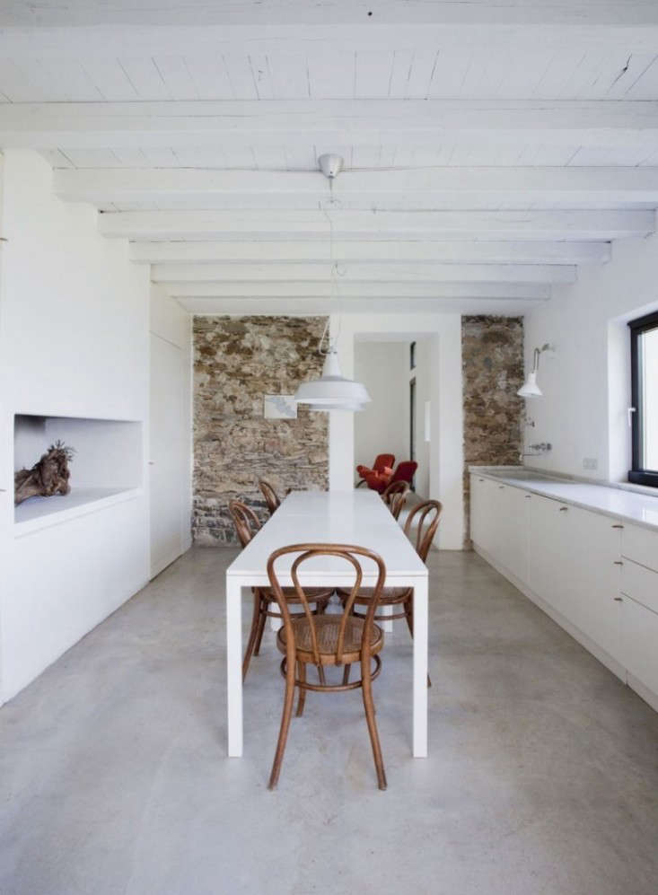 Polished Concrete Floors Are A Cohesive Thread Throughout The Interior