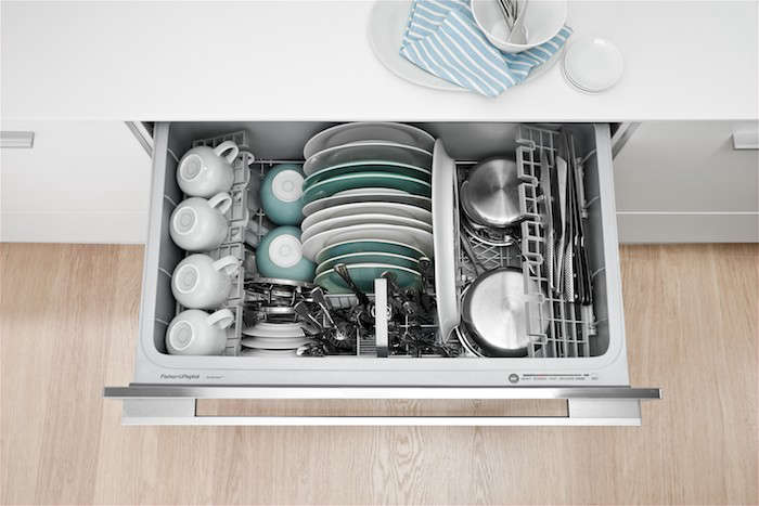 The Interior Of A 36 Inch Wide Dishwasher Drawer Photograph Courtesy Fisher