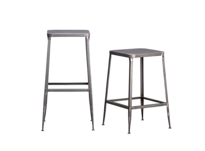Above CB2u0027s Flint 24-Inch Counter Stool is made from handcrafted steel with a raw finish and is priced at $119; alternatively the taller 30-Inch Flint ...  sc 1 st  Remodelista & 10 Easy Pieces: Studio Stools - Remodelista islam-shia.org