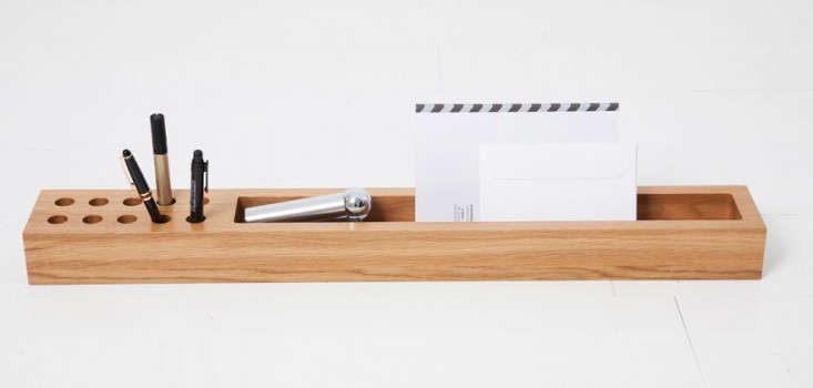 Above A Streamlined Receptacle To Tidy Up Your Desk Made From Solid Piece Of Oak The Remix Log Designed By Gesa Hansen Has One Large Compartment For