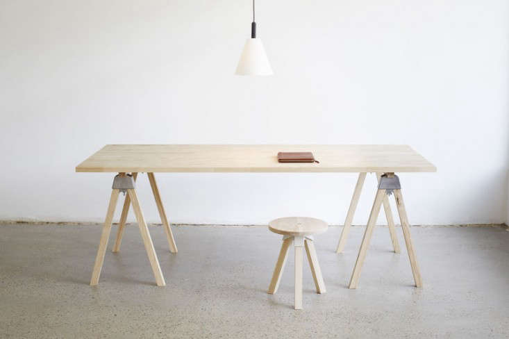 Above The A Joint Mini Raw Pine Trestle Table By Henry Wilson Comes In Self Emble Kit For Aud 950
