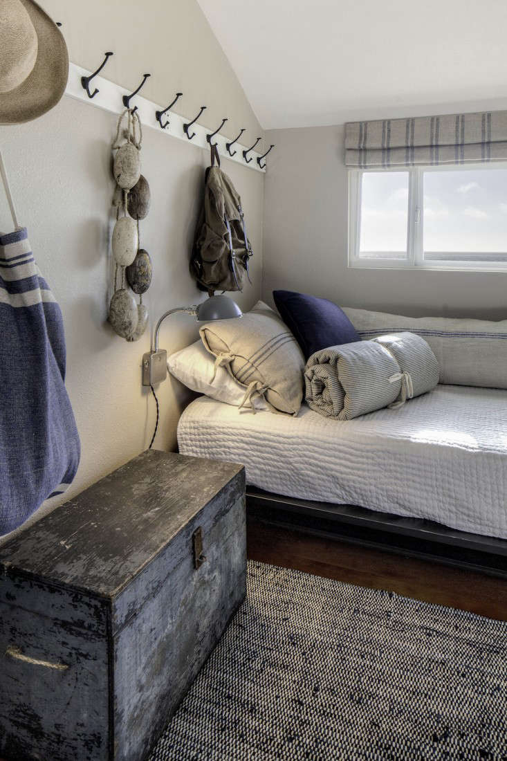 Q: What are your favorite features of the project? A: What we love most  about the room is the mix of textures: the pick-stitch quilt, the various  heavy ...