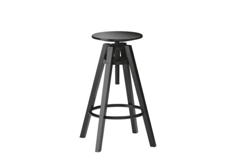 Above Ikeau0027s Dalfred Bar Stool is made from black painted solid birch wood and has an adjustable seat for taller desks at bar height (35-3/8 inch to 43-1/4 ...  sc 1 st  Remodelista & 10 Easy Pieces: Studio Stools - Remodelista islam-shia.org