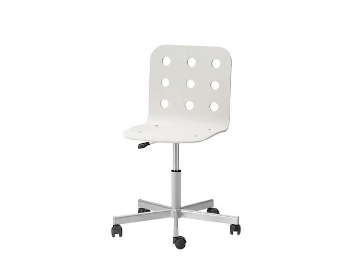 Above Ikea S Jules Swivel Chair Is Available In Five Colors For 39 99