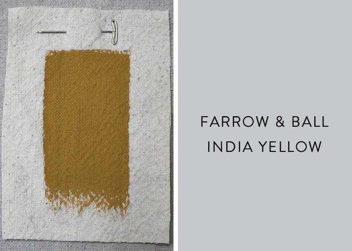 Above Farrow Ball S India Yellow Has A Colorful Past The Pigment On Which It Is Based Was First Available In England 18th Century