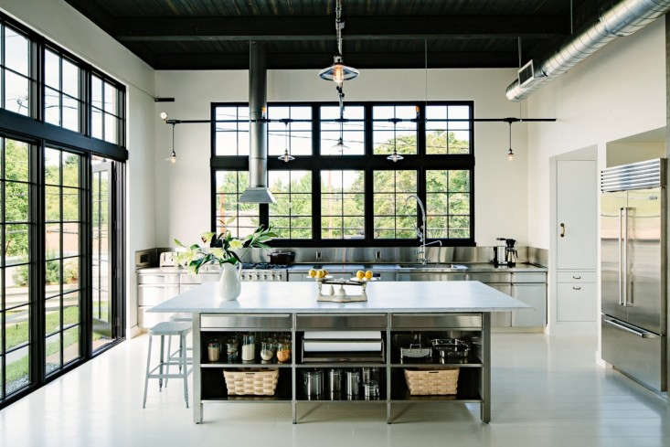 Above The Stainless Steel Kitchen Island Is Topped With Carrara Marble Chosen Because As One Of Js Explains I Wanted It To Look Like A 1924 Paris