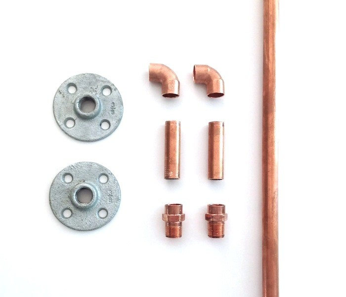 Above All Of My Curtain Rod Parts Were Sourced In The Plumbing Aisle Copper Pipe Elbows Adapters And Galvanized Flanges