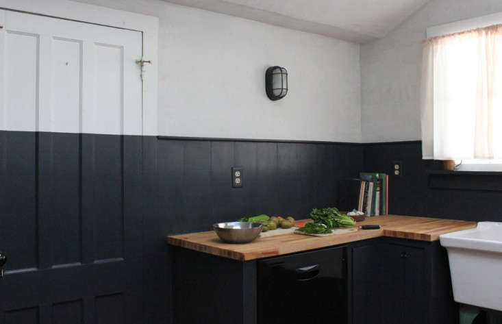 ... Around The Room Is Painted In Black Horizon By Benjamin Moore With  Plastered Walls Above. The Two Toned Design Was Inspired By A Kitchen For  The People, ...