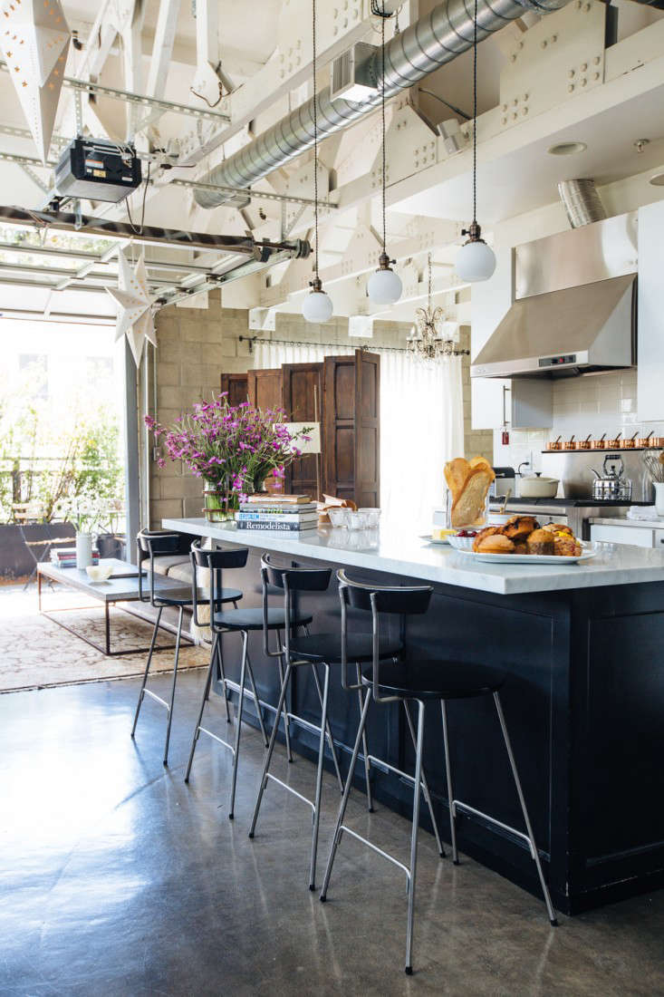 The Marble Topped Kitchen Island. For More On Marble Counters, See Our Post