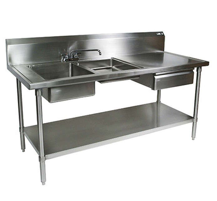 stainless steel prep table. beautiful ideas. Home Design Ideas