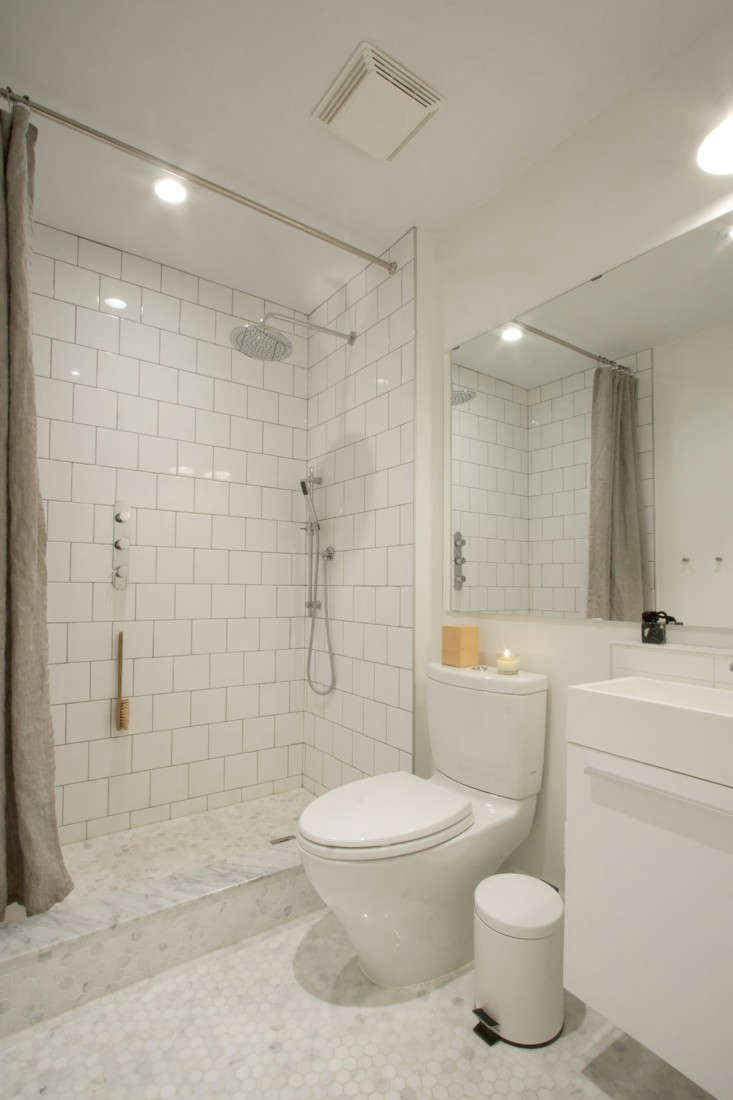Bathroom budget remodel - Above The Couple No Longer Feels Claustrophobic In Their Bathroom Their Only Regret Is That They Failed To Add Enough Storage Space But Elegant Storage