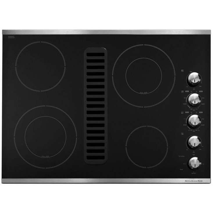 downdraft vent ceramic glass electric cooktop