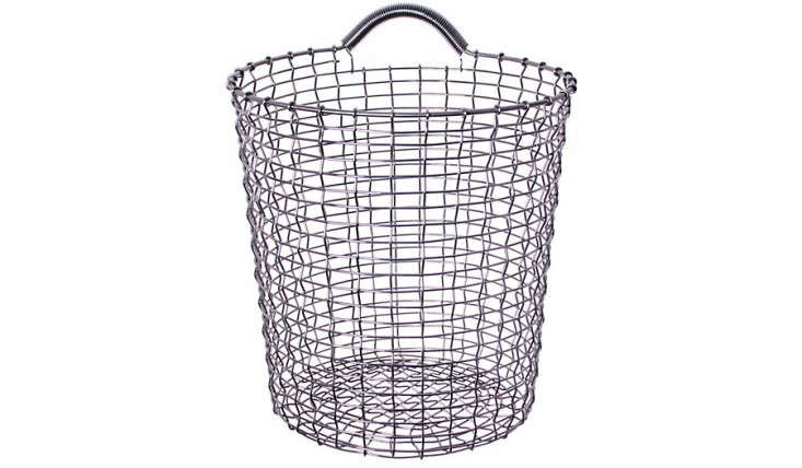Above: From A Line Of Handmade Wire Baskets Used By Fishermen In Sweden For  Decades, The Korbo Bin 18 Of Stainless Steel Is $135 At DWR.