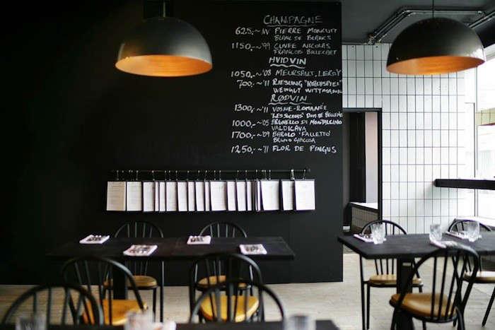 kul: a charcoal-colored grill restaurant in copenhagen - remodelista