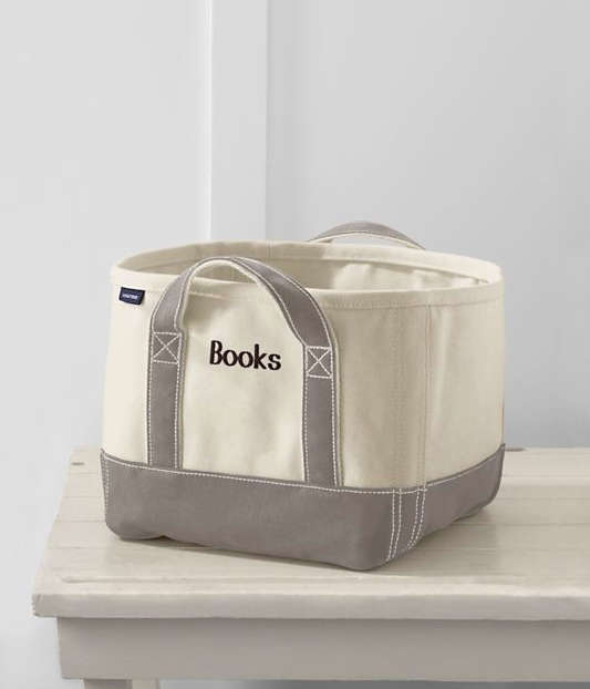 Above: Landsu0027 End Makes A Bin That You Can Personalize If You Want. The  Extra Small Canvas Storage Tote Comes In Four Different Colorways; Itu0027s 10  Inches ...