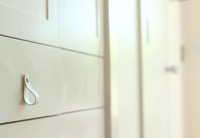 DIY: Leather Lace And Wooden Ball Door Pull