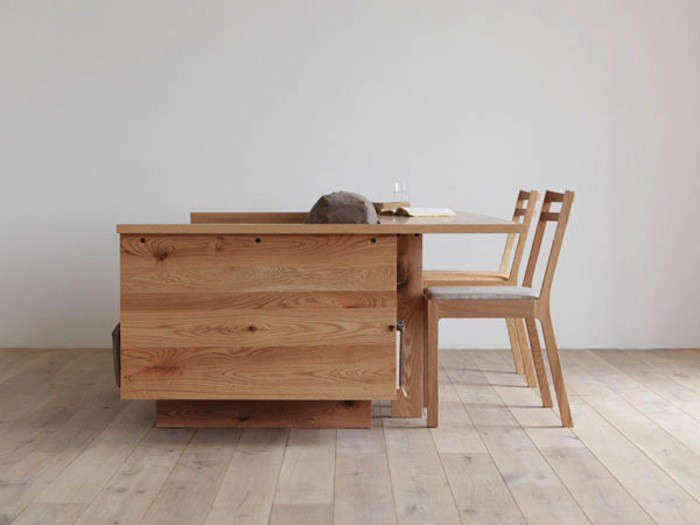 two in one furniture. Above: A Side View Reveals The Two-in-one Design. Two In One Furniture