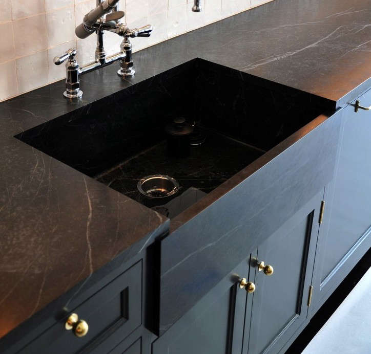 soapstone counters and an apron front sink by made llc a new york - Soapstone Sink