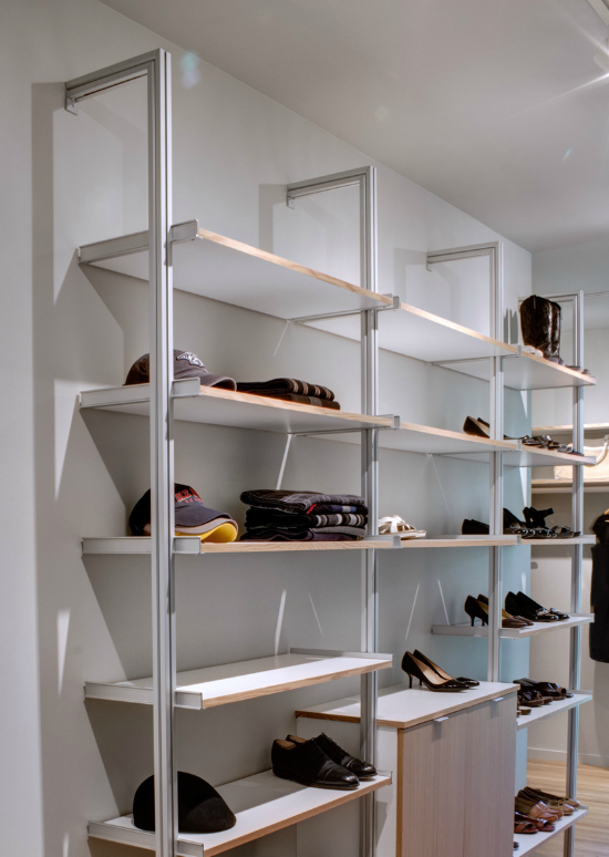 Above: For An Affordable Modern Closet, Nashville Residential Architect  Marcus DiPietro Likes The No Nonsense Rakks Systemu0027s Aluminum Poles And  Rods.