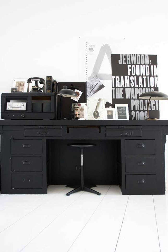 Palette U0026 Paints: Matte Black Painted Furniture