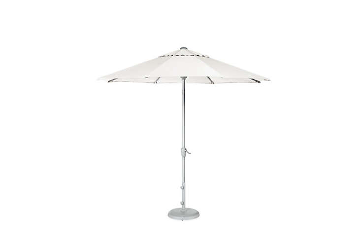 Popular Above From UK outdoor furnishings pany Barlow Tyrie the Verona Parasol is available in a circular or rectangular style for directly through Barlow