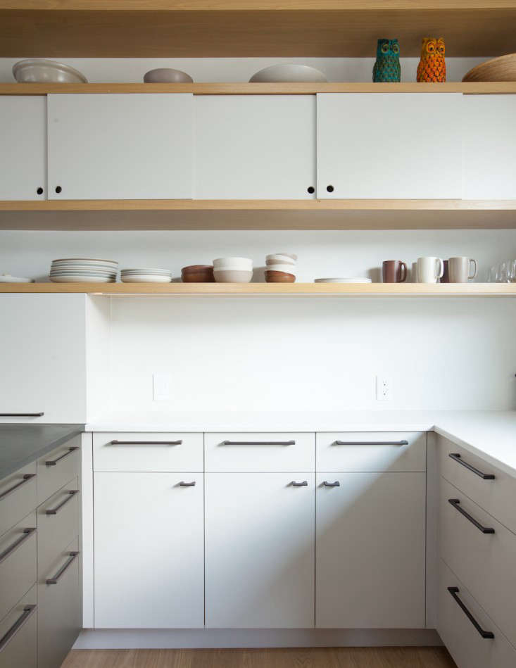 Another set of flat-front cabinets in a more modern kitchen. See Kitchen of the Week: Oakland Family Kitchen by Medium Plenty.