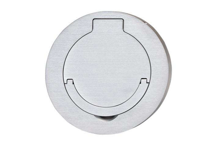 ... The Round Plate 1 Ground Socket Has A Water Resistant Cover.  UL Approved For US Line Voltage, Meljec Sockets Will Fit In A US Outlet Box.